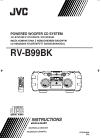 JVC Kaboom ! Series RV-B99BK Portable Stereo System Instructions manual (41 pages)
