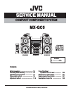 JVC MX-GC5 Service Manual
